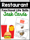 Restaurant Functional Task Reading Cards with IEP Goals {3