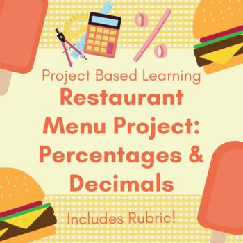 Restaurant Menu Project: Percentages & Decimals Project & Rubric