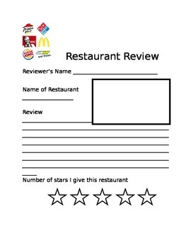 Review writing: Restaurant