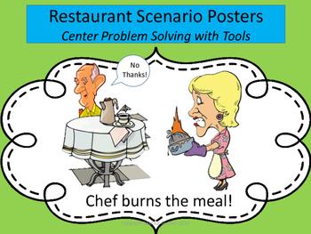 Restaurant Scenario Posters (Tools of the Mind Restaurant Theme)