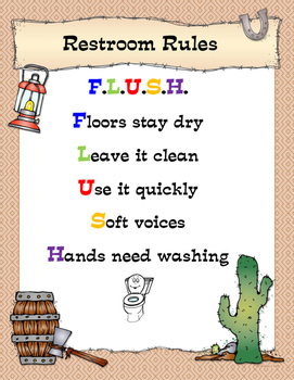 Restroom Rules Poster