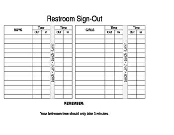 Restroom Sign Out