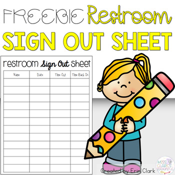 Restroom Sign Out {FREE}