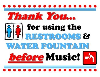 Restrooms Before Music