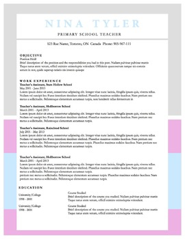 """Resume Template 9pack 