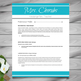 Resume Template + Cover Letter and References (Blue) - Pow
