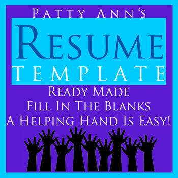 Resume Job & Career Template > Generic, Ready Made Word Do