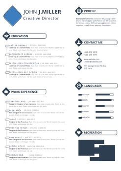 Resume Template   Professional Resume Design   MS Word Template