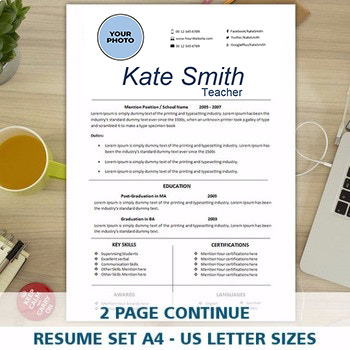Resume Template for Teacher, FREE Cover Letter Template In