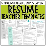 Resume Templates - Editable