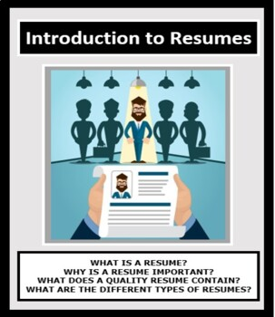 Resumes, Introduction to Resumes