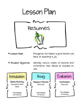 Resumes Lesson