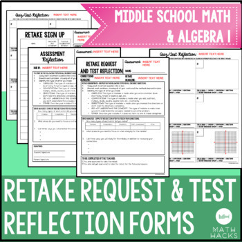 Retake Request & Test Reflection/ Corrections Forms for Be