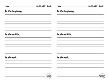 Retell Beginning, Middle, & End of Story- Half Page