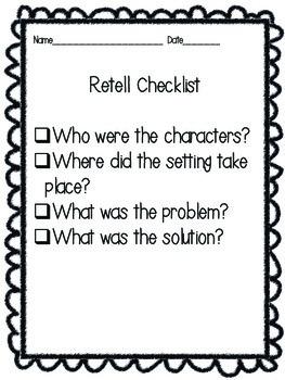 Retell Checklist