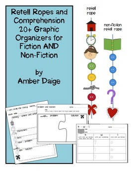 Non-Fiction and Fiction Retell Rope and Comprehension Grap