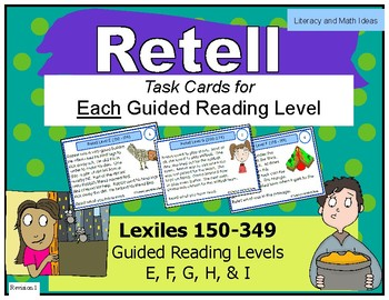 Retell Task Cards For Each Guided Reading Level (Levels E,