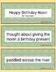 Retell and Sequencing Cards: Happy Birthday Moon - First o