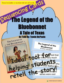 Retell and Sequencing Cards: Texas Tale - Legend of the Bl