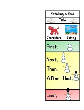 Retelling Bookmark