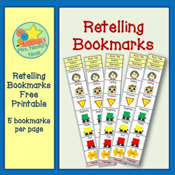 Retelling Bookmarks FREEBIE