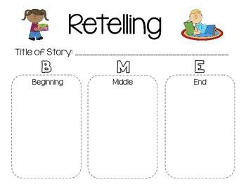 Retelling Sheet {beginning, middle, & end}