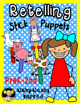 Retelling Stick Puppets {Wishy-Washy Inspired}