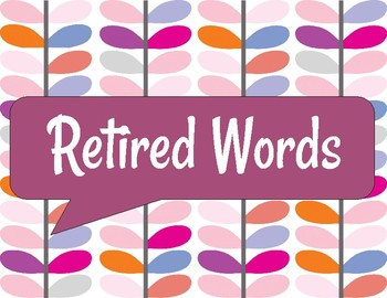 Retired Words Poster