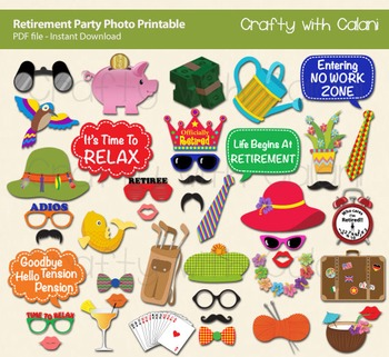 Retirement Party Photo Booth Prop - DIY Party & Classroom