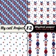 Retro Blue and red - DIGITAL PAPER - Scrapbooking- A4 & 12