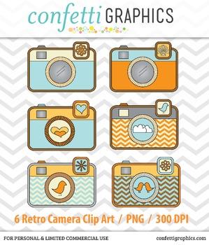 Retro Camera Clip Art Graphic Design Photography Logo Chev