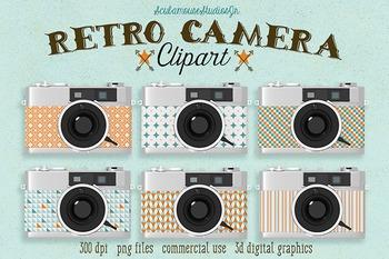 Retro Camera Clipart