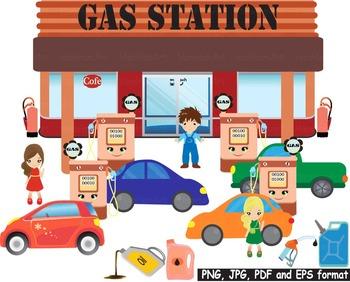 Retro Cars Gas station Pump Clip art Vehicle Sport FUEL pa