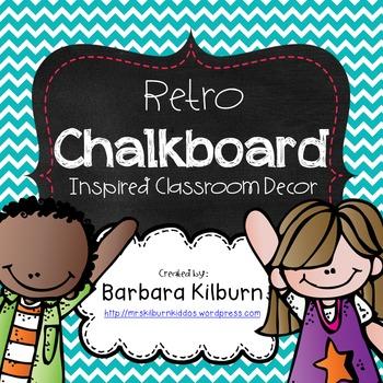 Retro Chalkboard Inspired Decor Set