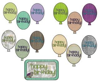 Retro Chic Birthday Balloons