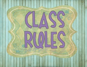 Retro Chic Simple Classroom Rules