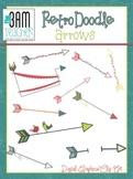 Retro Doodle Arrows Clip Art Set