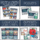 Retro Owl and Gray Chevron Complete Classroom Decor Set