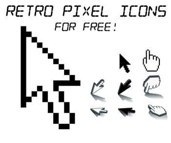Retro computer icons