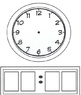 Reusable Analog and Digital Clock for Grouping or Individual