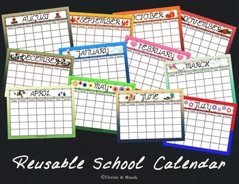 Reusable School Calendar
