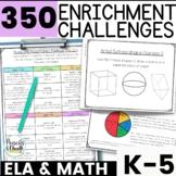 BUNDLE - Reusable and Customizable Math Extension Activity