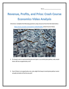 Revenue, Profits, and Price: Crash Course Economics- Video