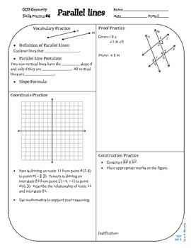 Review #6 Parallel Lines Geometry CCSS