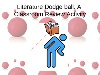 """Review Activity- """"Literature Dodgeball"""" (works for ANY con"""