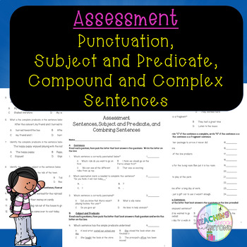 Review Assessment - Sentences, Subject and Predicate, and