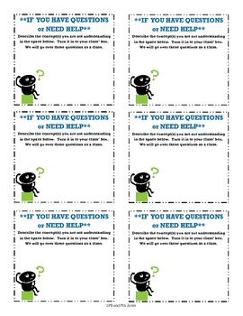 Review Helper: Question Forms - Anonymous, encourage questions!