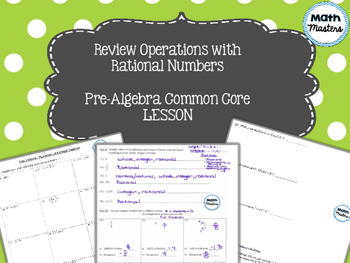 Review Operations with Rational Numbers