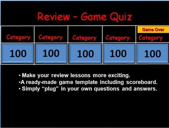 Review Quiz Game Template