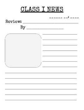 Review and Opinion Writing Paper